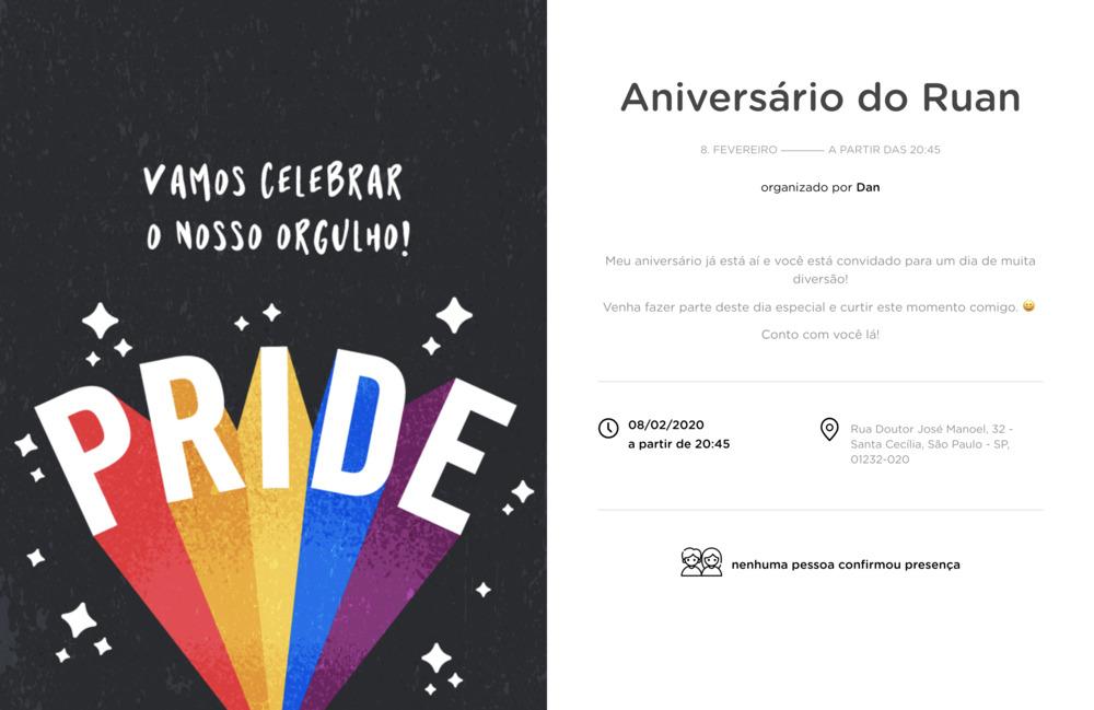 Vibe de Ocasioes especiais - Pride